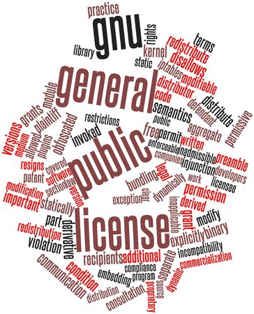 irrelevant: Abstract word cloud for GNU General Public License with related tags and terms