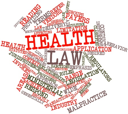 Abstract word cloud for Health law with related tags and terms Stock Photo - 16774255