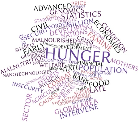 affected: Abstract word cloud for Hunger with related tags and terms