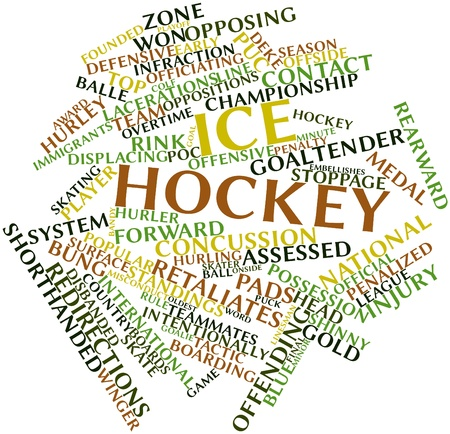 immigrants: Abstract word cloud for Ice hockey with related tags and terms Stock Photo