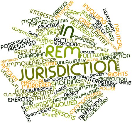 distinguishing: Abstract word cloud for In rem jurisdiction with related tags and terms