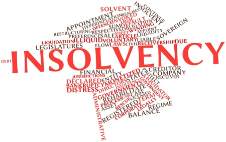 Abstract word cloud for Insolvency with related tags and terms Stock Photo - 16772886