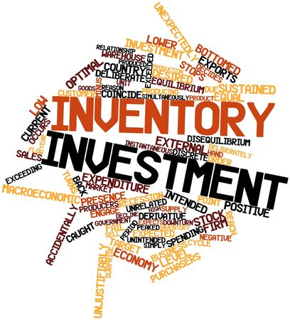 decides: Abstract word cloud for Inventory investment with related tags and terms