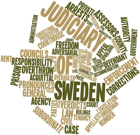 municipal court: Abstract word cloud for Judiciary of Sweden with related tags and terms