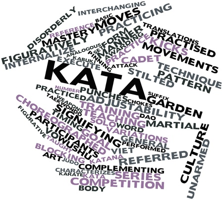 karate practice: Abstract word cloud for Kata with related tags and terms
