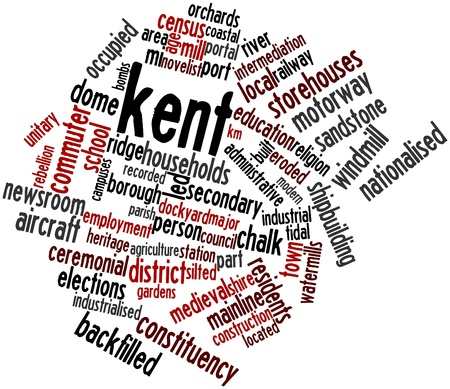 easterly: Abstract word cloud for Kent with related tags and terms Stock Photo