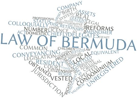 vested: Abstract word cloud for Law of Bermuda with related tags and terms