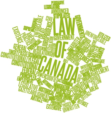 Abstract word cloud for Law of Canada with related tags and terms photo