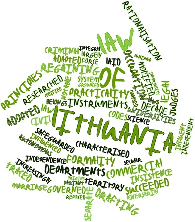 characterised: Abstract word cloud for Law of Lithuania with related tags and terms
