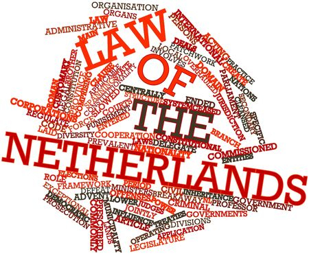 Abstract word cloud for Law of the Netherlands with related tags and terms Stock Photo - 16774629