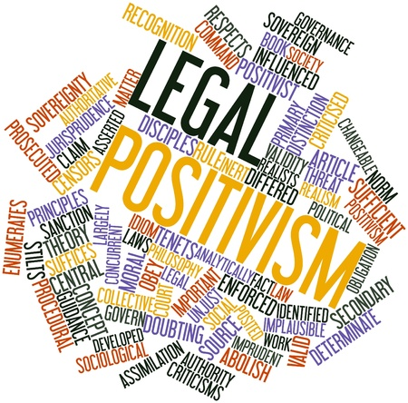 asserted: Abstract word cloud for Legal positivism with related tags and terms