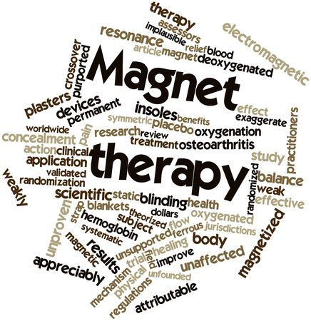 Abstract word cloud for Magnet therapy with related tags and terms Stock Photo - 16773650