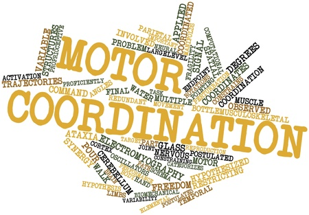 Abstract word cloud for Motor coordination with related tags and terms Stock Photo - 16772951