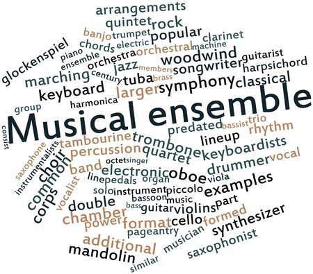 Abstract word cloud for Musical ensemble with related tags and terms Stock Photo - 16772983