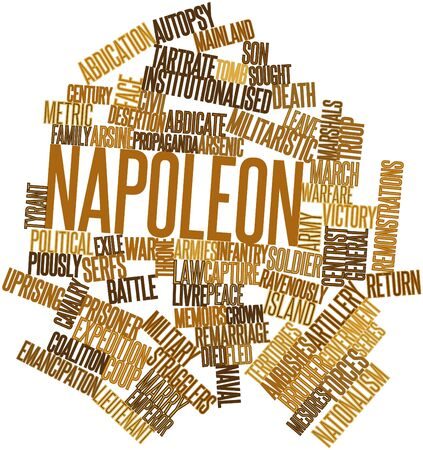 exile: Abstract word cloud for Napoleon with related tags and terms