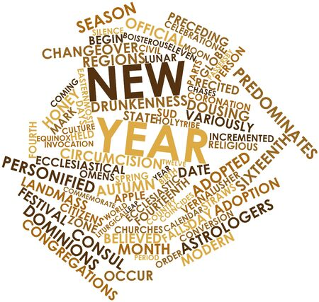 vernal: Abstract word cloud for New Year with related tags and terms