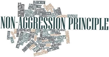 anarchism: Abstract word cloud for Non-aggression principle with related tags and terms