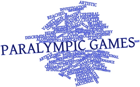Abstract word cloud for Paralympic Games with related tags and terms
