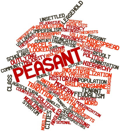 offenses: Abstract word cloud for Peasant with related tags and terms