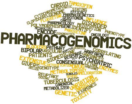 interactions: Abstract woordwolk voor Pharmacogenomics met gerelateerde tags en voorwaarden