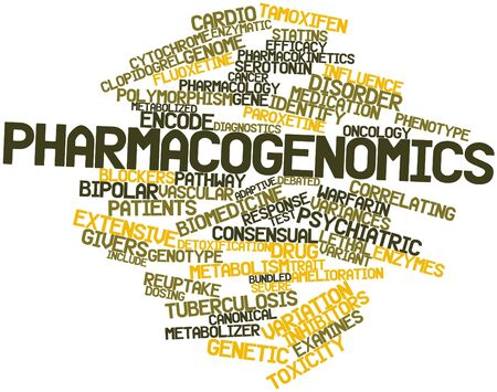 polymorphism: Abstract word cloud for Pharmacogenomics with related tags and terms