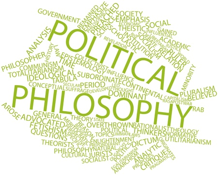 jurists: Abstract word cloud for Political philosophy with related tags and terms