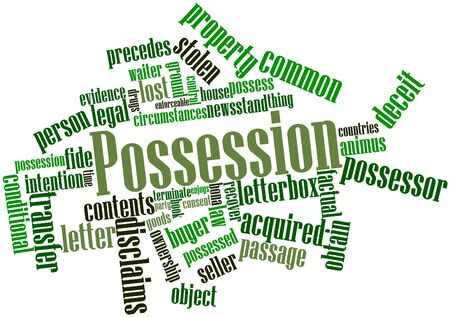circumstances: Abstract word cloud for Possession with related tags and terms