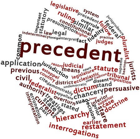 overturn: Abstract word cloud for Precedent with related tags and terms