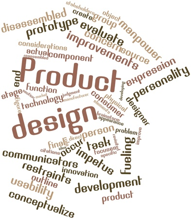 execute: Abstract word cloud for Product design with related tags and terms