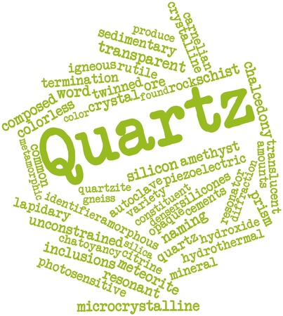 sedimentary: Abstract word cloud for Quartz with related tags and terms