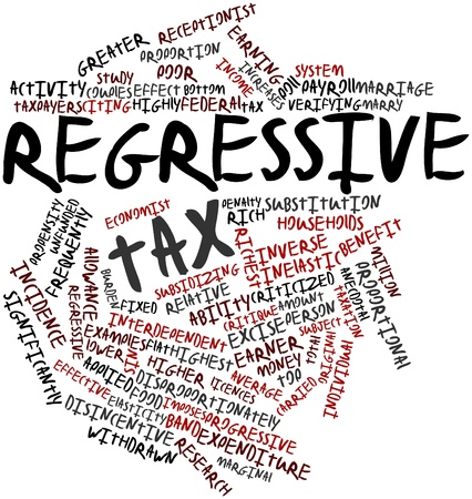 exceeds: Abstract word cloud for Regressive tax with related tags and terms