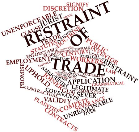 Abstract word cloud for Restraint of trade with related tags and terms