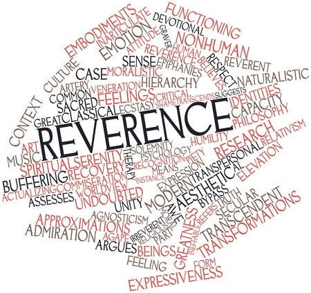 transcendence: Abstract word cloud for Reverence with related tags and terms Stock Photo