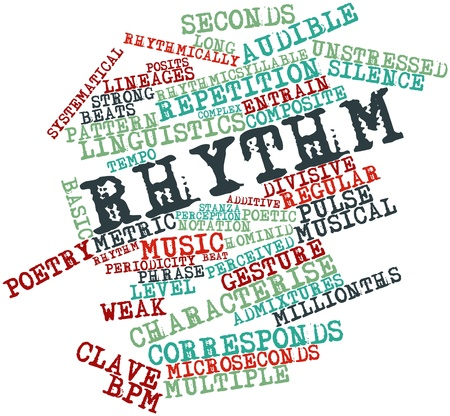 bpm: Abstract word cloud for Rhythm with related tags and terms