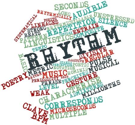 estrofa: Nube palabra abstracta para Rhythm con etiquetas y t�rminos relacionados
