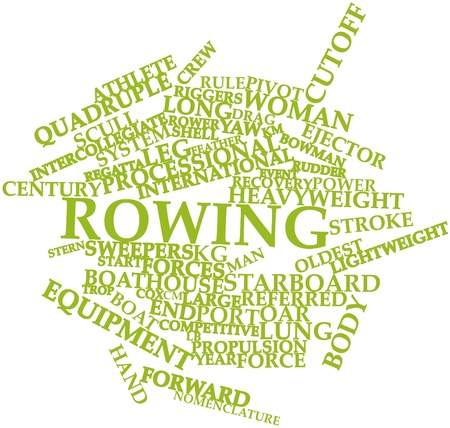 oar: Abstract word cloud for Rowing with related tags and terms