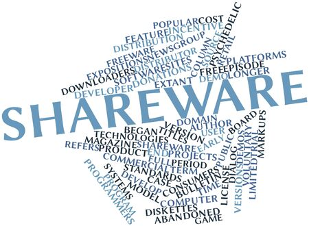 crippled: Abstract word cloud for Shareware with related tags and terms