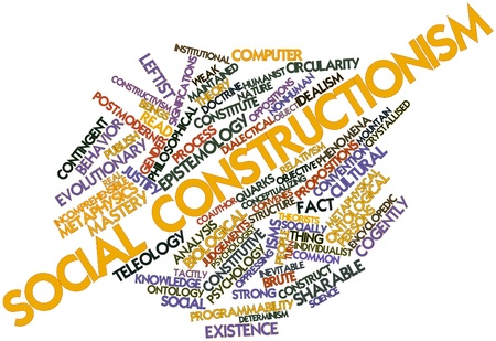 constitutive: Abstract word cloud for Social constructionism with related tags and terms