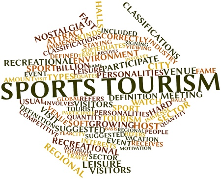 Abstract word cloud for Sports tourism with related tags and terms Stock Photo - 16773525