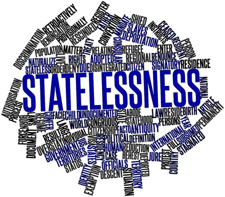 facto: Abstract word cloud for Statelessness with related tags and terms