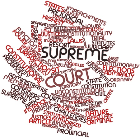 supreme: Abstract word cloud for Supreme court with related tags and terms