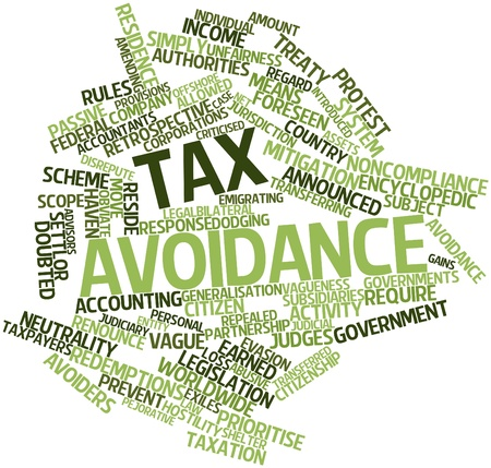 Abstract word cloud for Tax avoidance with related tags and terms
