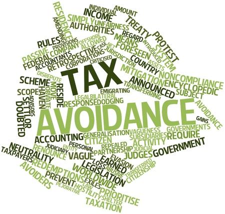 autoridades: Nube palabra abstracta para la evasi�n fiscal con las etiquetas y t�rminos relacionados Foto de archivo