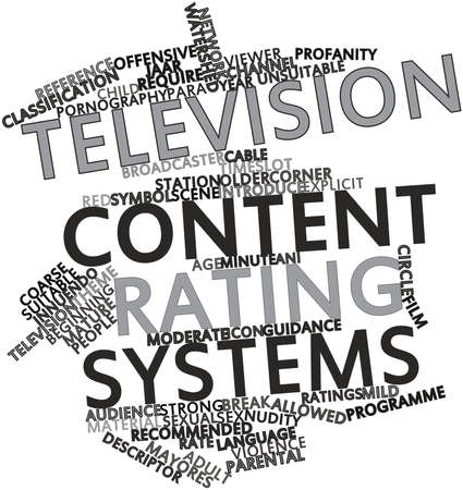 Abstract word cloud for Television content rating systems with related tags and terms Stock Photo - 16773522