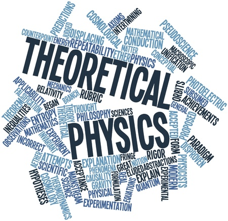 Abstract word cloud for Theoretical physics with related tags and terms Stock Photo - 16774589
