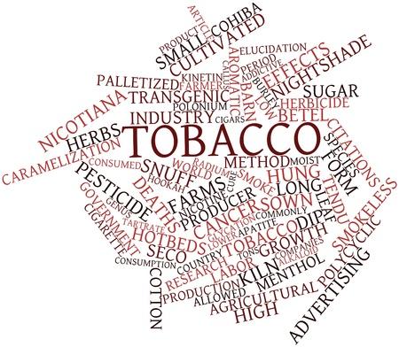 tabaco: Nube de palabras Resumen del tabaco con las etiquetas y términos relacionados