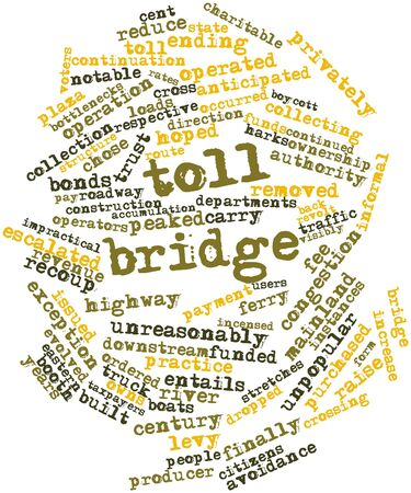 incensed: Abstract word cloud for Toll bridge with related tags and terms