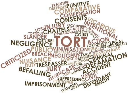 intent: Abstract word cloud for Tort with related tags and terms