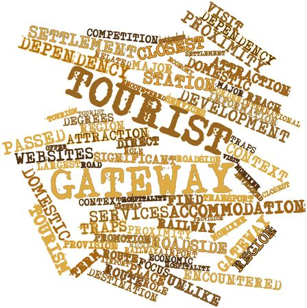 encountered: Abstract word cloud for Tourist gateway with related tags and terms
