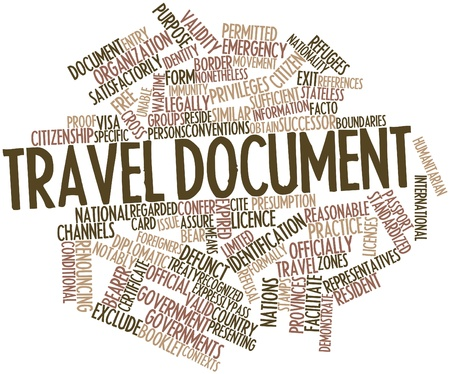 facto: Abstract word cloud for Travel document with related tags and terms